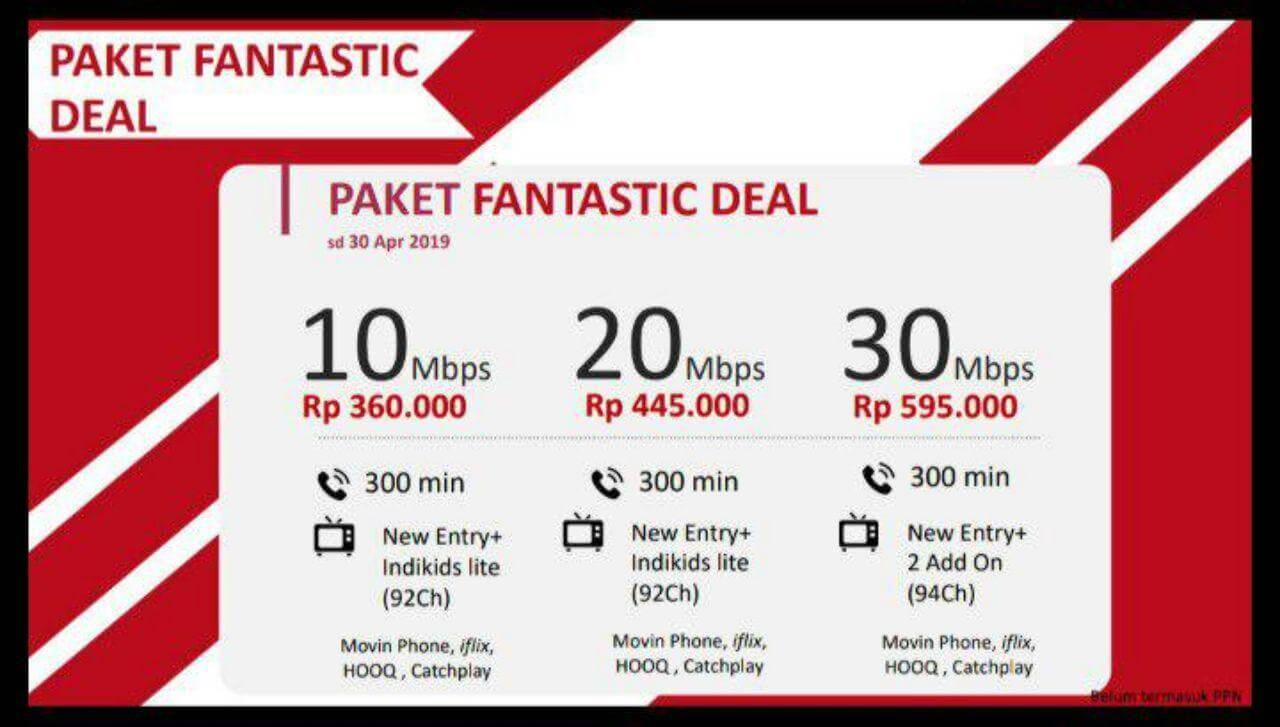 IndiHome Promo Internet Fantastic Deal